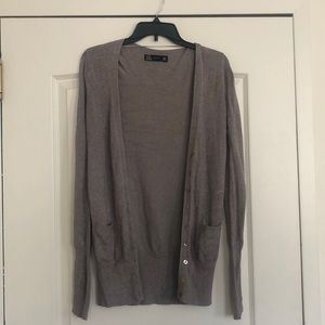 Zara long button down cardigan
